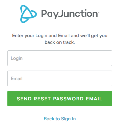 I forgot my password, how can I reset it? – PayJunction Support